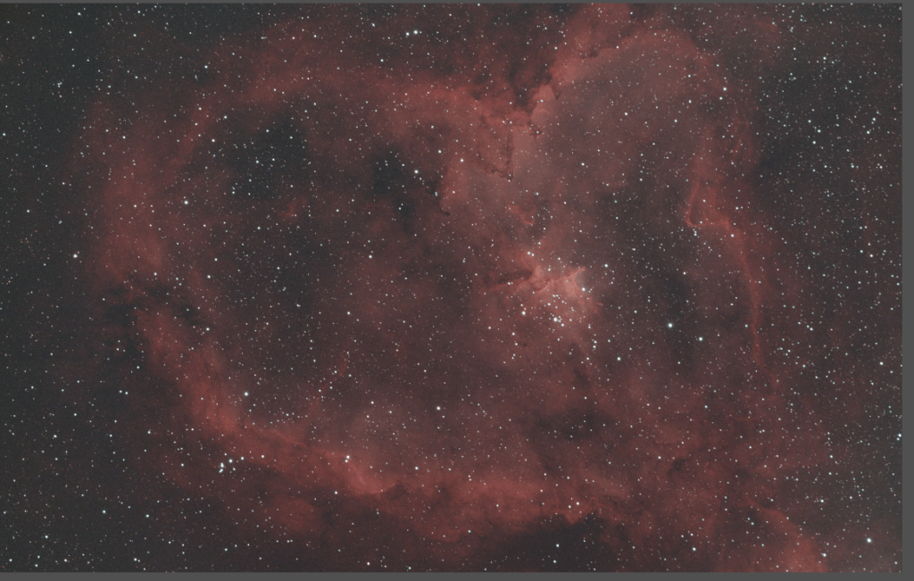 heart nebula after deconvolution