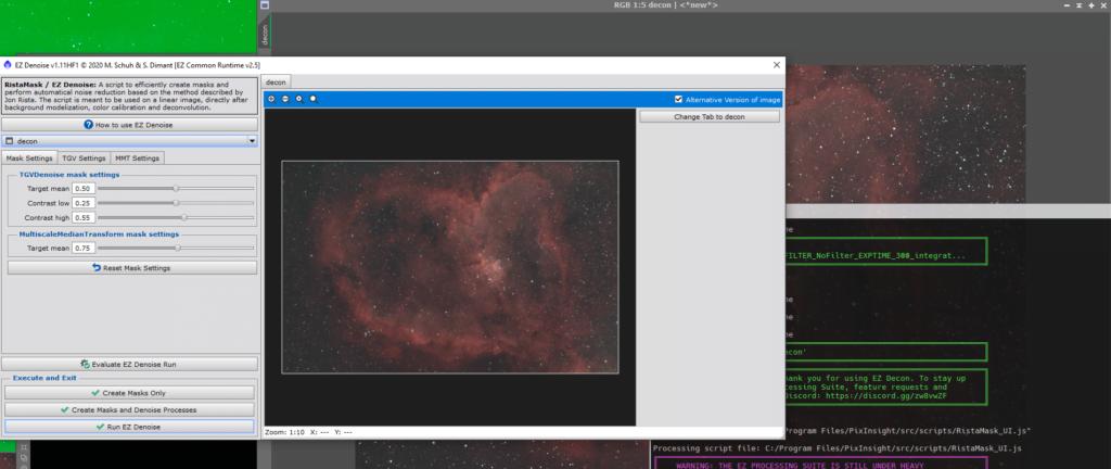 ez denoise heart nebula