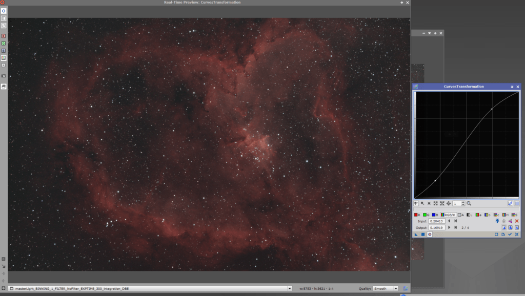 heart nebula pixinsight curves stretch