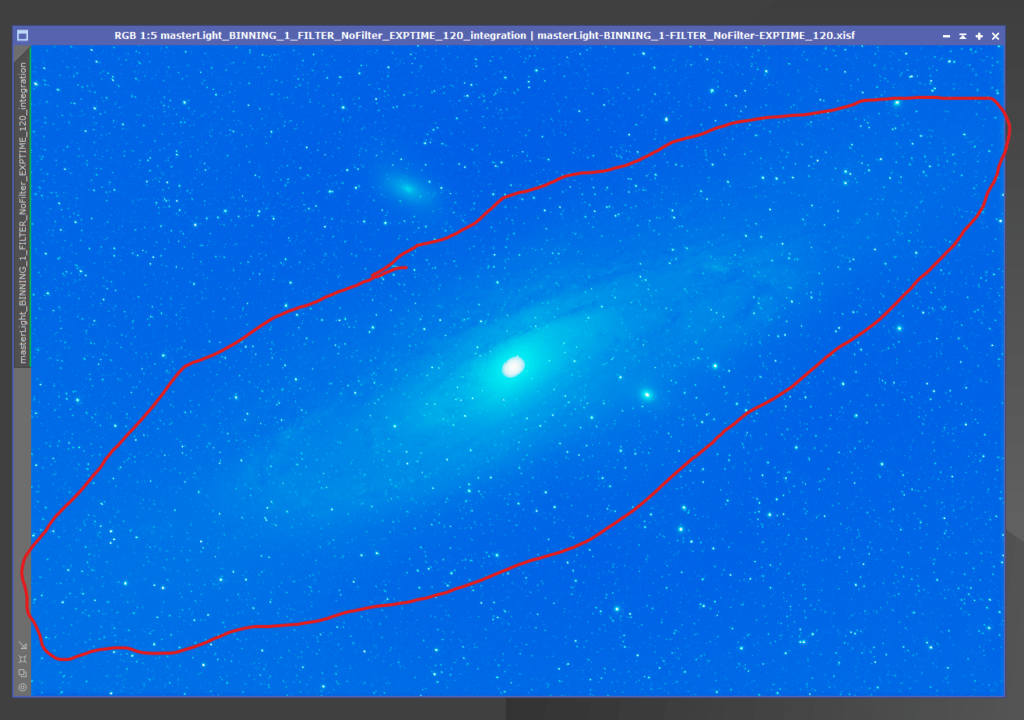 PixInsight process andromeda galaxy - dynamic  background extraction