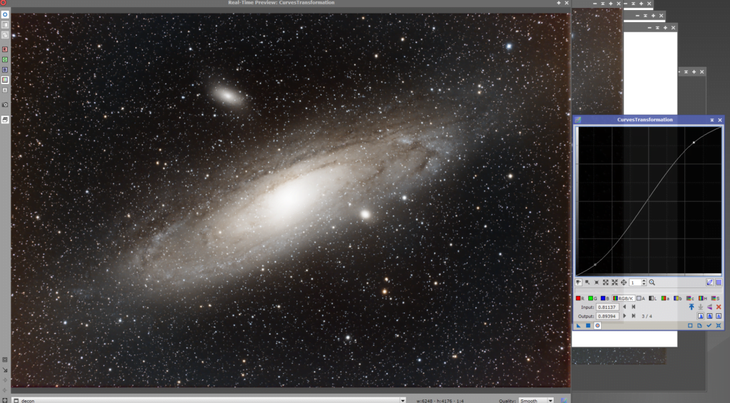 andromeda galaxy curves stretch