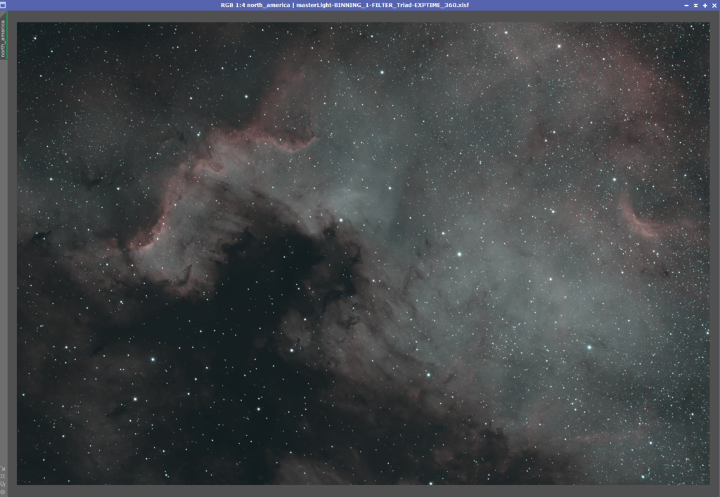 North America Nebula Processing in PixInsight