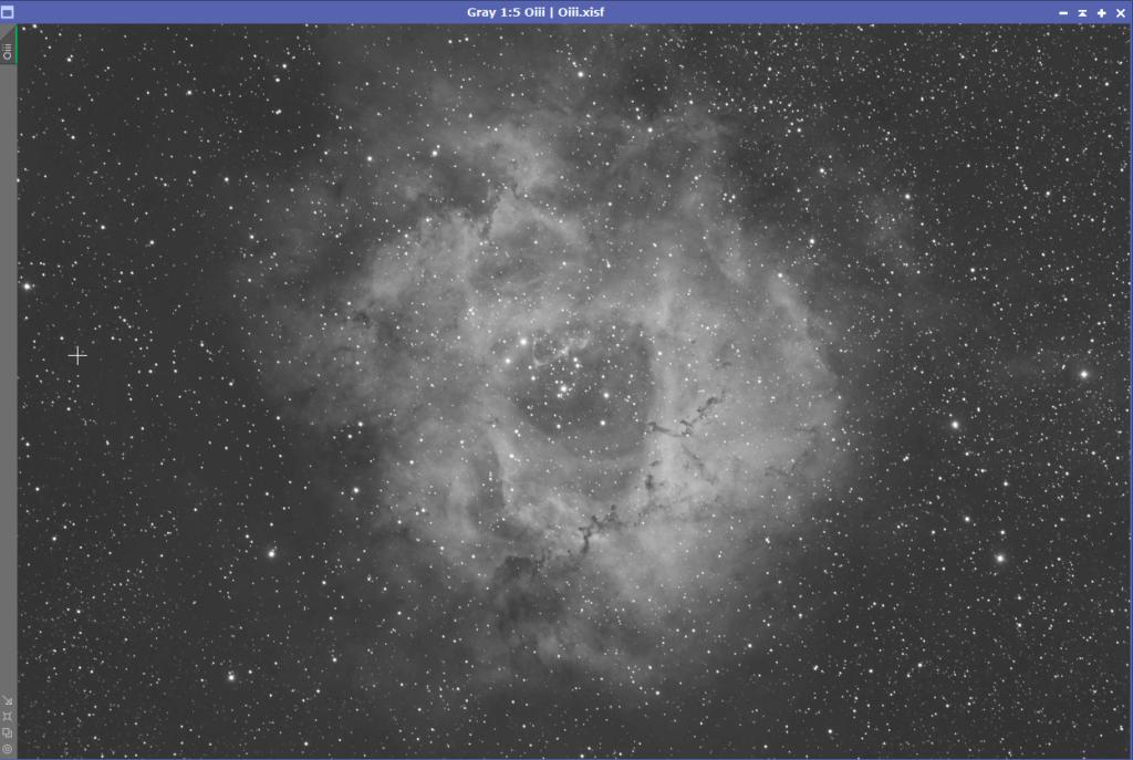 Rosette Nebula Oiii from Triad Quad Filter