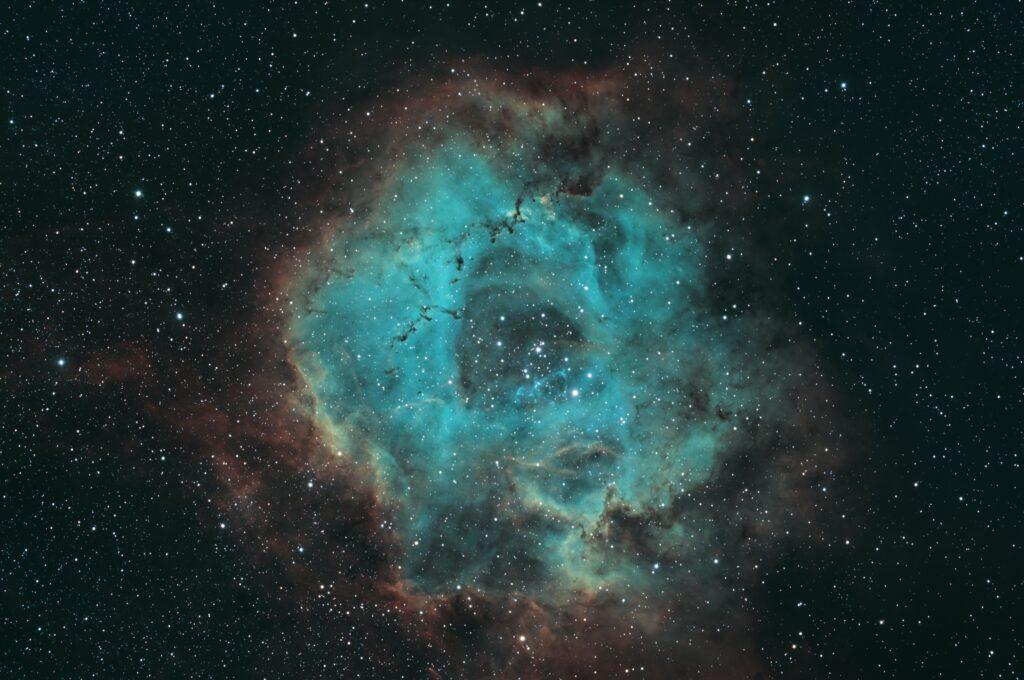 SHO Rosette Nebula from OSC Camera